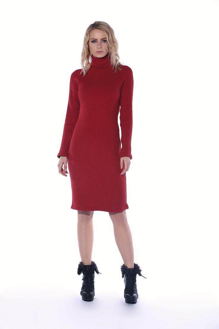 Kırmızı Kaşkorse Balıkçı Elbise