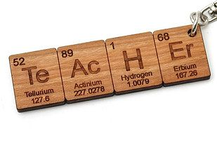 This keychain = a great gift for a chemistry teacher.