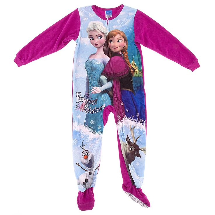 Disney's Frozen continues to be popular among young girls. The dynamic duo of Princess Elsa and Anna have a huge draw with the young audiences. Of course there's the talking snowman Olaf and Sven the Reindeer. You can have frozen icicles hanging off the roof outside and your young princess will be toasty warm in this footed blanket sleeper.