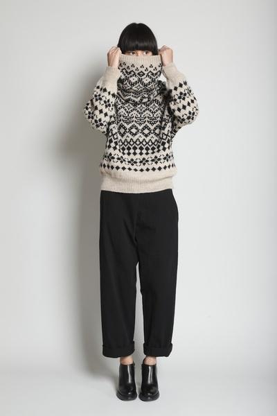 yohji yamamoto intarsia knitwear