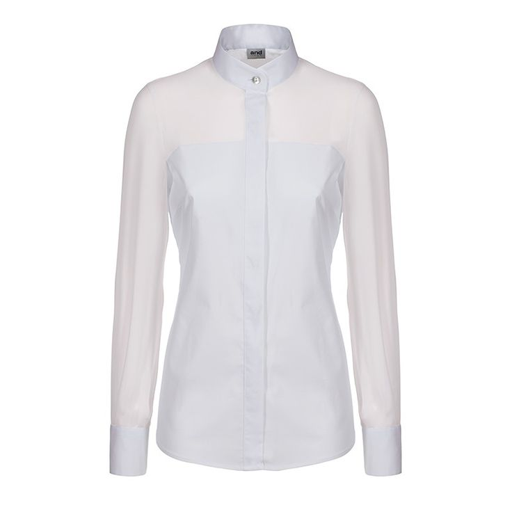 woman shirt with organza shoulders and sleeves