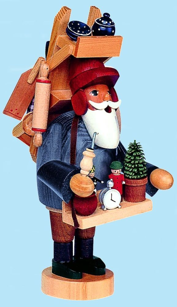 KWO Peddler German Christmas Incense Smoker Handcrafted in Erzgebirge Germany
