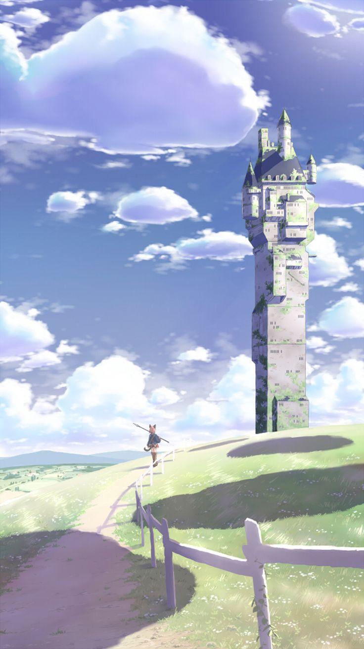 Torre cielo soleado.