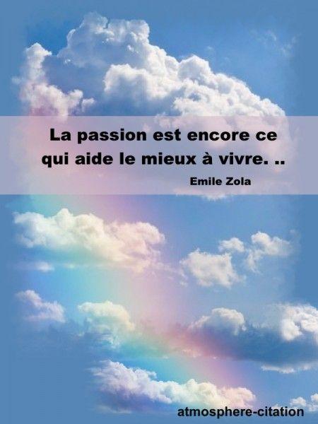 La passion est encore ce qui aide le mieux à vivre. -Émile Zola