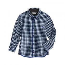 Blue And White Kid's Checked Shirt