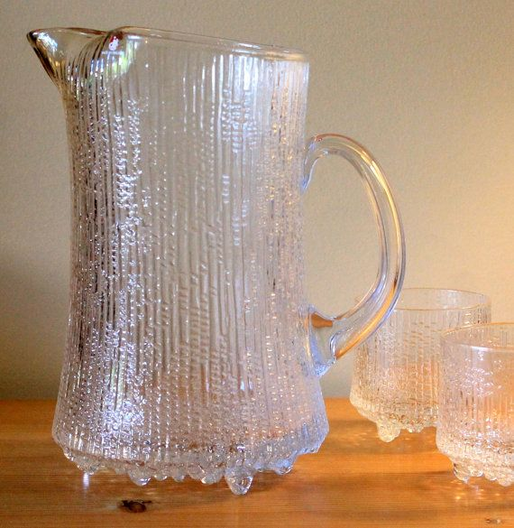 Vintage Iittala Ultima Thule Pitcher Ice Glass by MillyCatVintage