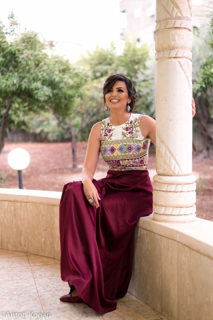 my own Palestinian embroidery dress / tatreez / Engagement dress / تطريز فلسطيني /  تطريز مارجو زيدان من بيت جالا
