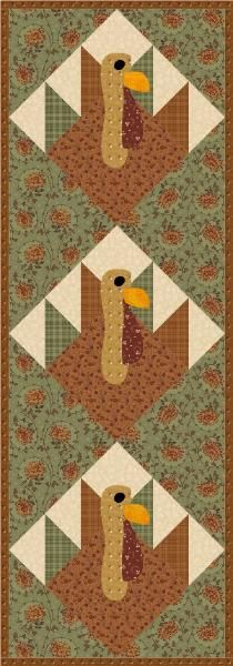 Turkey Trot pattern, tutorial and  Layout