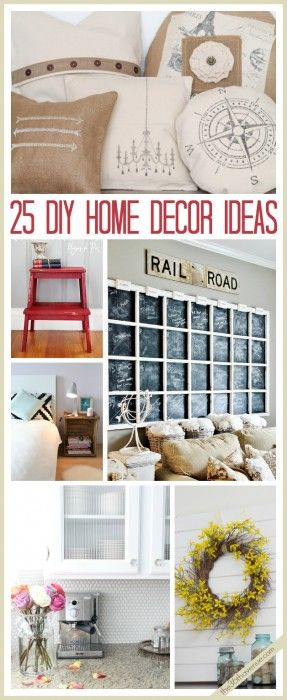 The 36th AVENUE | 25 DIY Home Decor Ideas. I love the pillows in the top picture