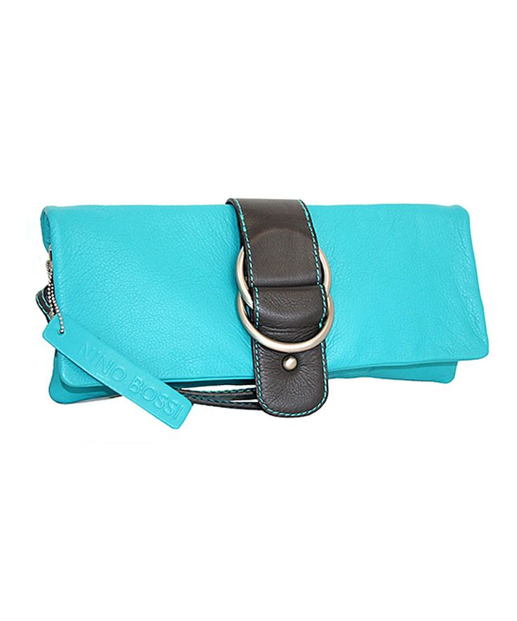 Look what I found on #zulily! Nino Bossi Handbags Turquoise Leather Buckle-Front Wallet by Nino Bossi Handbags #zulilyfinds