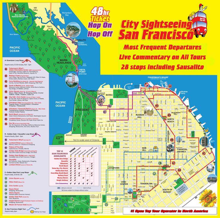 8 Best California Images On Pinterest Usa Blog And Bridge: City Sightseeing San Francisco Map At Slyspyder.com
