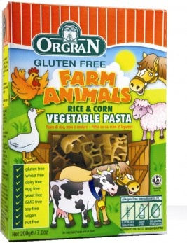 Orgran Pasta for Kids  wheat and gluten free.