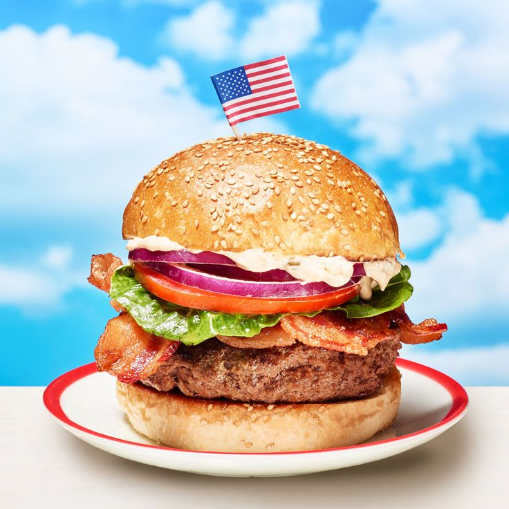 """""""My husband, John, makes a spritzer called the Red, White and Blue— and this is my burger version! Sure it's great for the Fourth, but it's equally tasty all season long."""""""