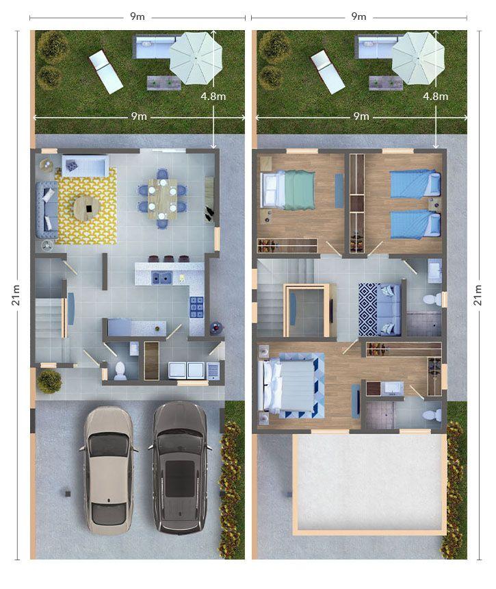 Bienvenido A La Casa Bermellon Planos De Casas Casas Planos De Casas Modernas