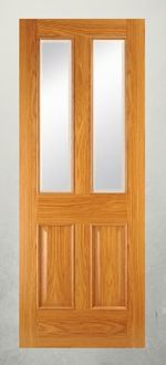 The #Oak 2040 2v -  #door Specification :   HD Engineered Core,  40 mm Thickness,   0.6 mm Veneer Facing,   20 mm Solid Perimeter Lipping,   Reducible by 12 mm per side,  High Quality Factory Lacquer  #Glass - Pre-glazed, Clear #Bevelled. Book Matched Veneers on Rails & Stiles  #Internal Use Only  Available Sizes - 78 x 24, 78 x 26, 78 x 28  78 x 30, 80 x 32, 80 x 34   All Materials Supplied & Fitted for a complete service by MH Building & Carpentry Service. Get a Professional Quote…