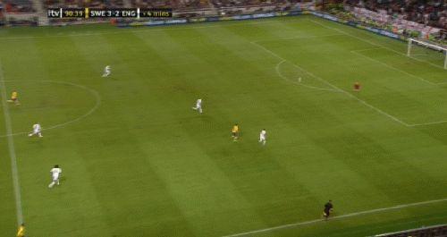Ibrahimovic - Sweden x England - gif