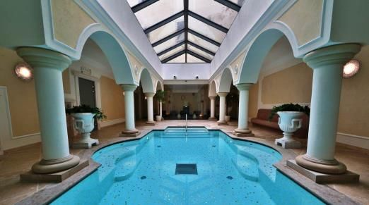 Indoor pool and wellness at Hotel Elizabeth in Trencin, Slovakia  http://www.historichotelsofeurope.com/en/Hotels/hotel-elizabeth-trencin.aspx