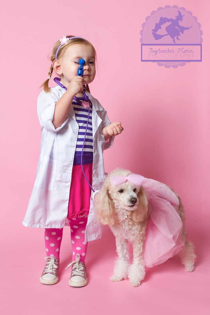 doc mcstuffins costume...wrigley could even get in on this dressed as lambie! Lol...