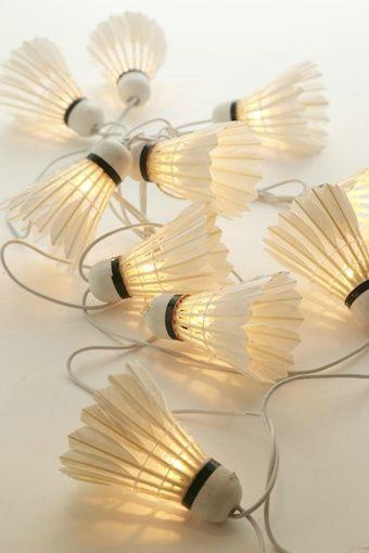 Shuttlecock string lights.