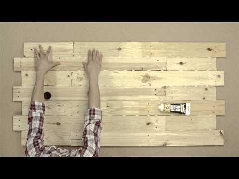Tutorial como hacer tu propio cabezal con madera de palet - Ideas con palets de madera ...
