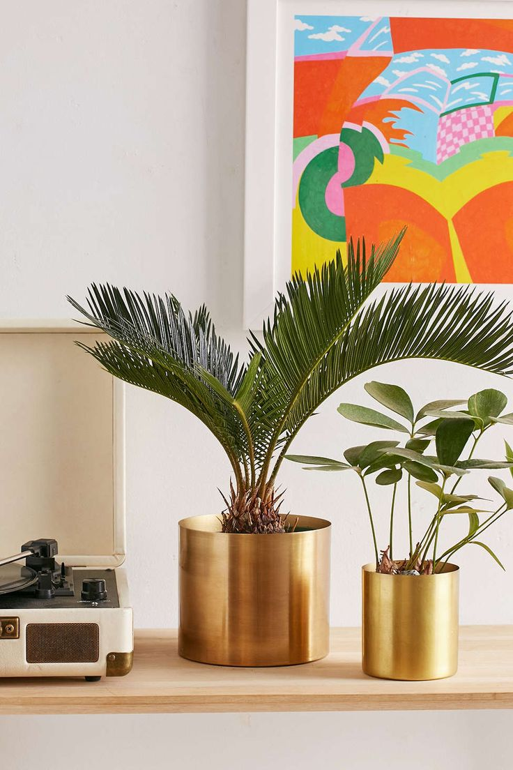 Mod Metal Medium Planter - Urban Outfitters