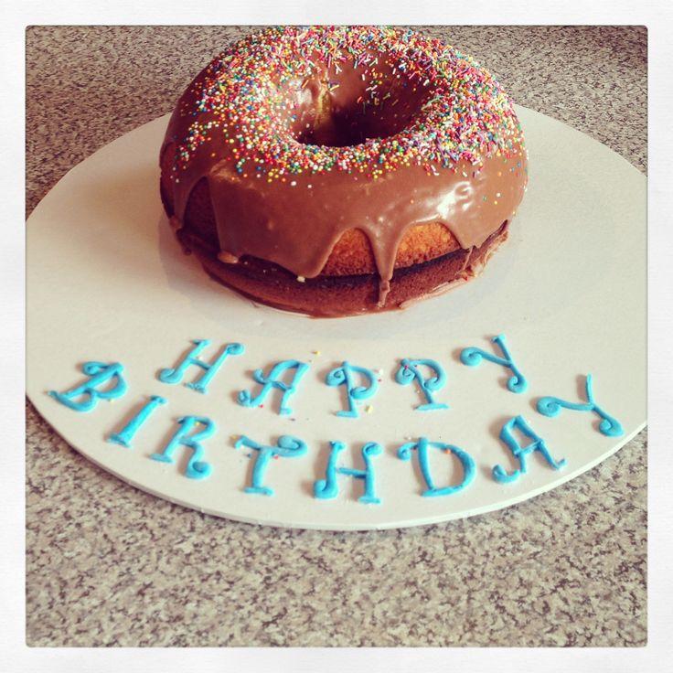 Donut cake I made. #donut #cake