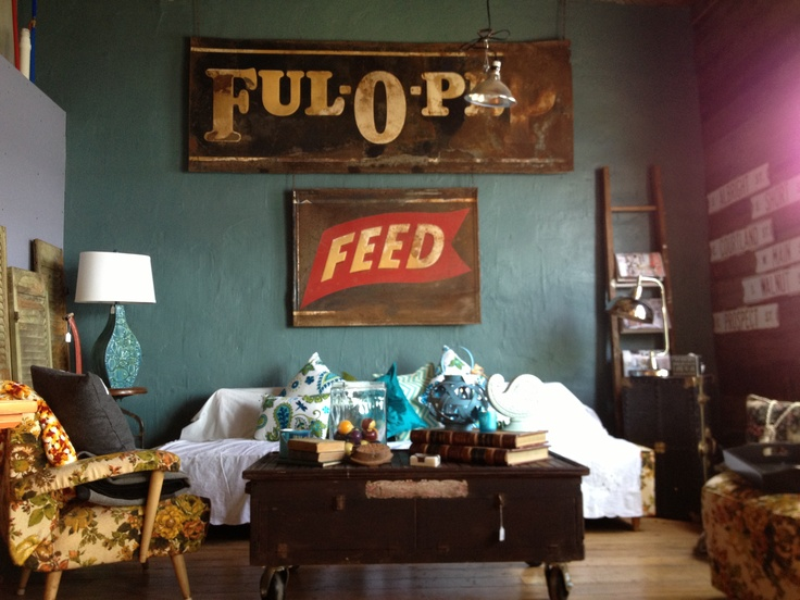 Ful o pep vintage feed sign the painted lady lansing ia