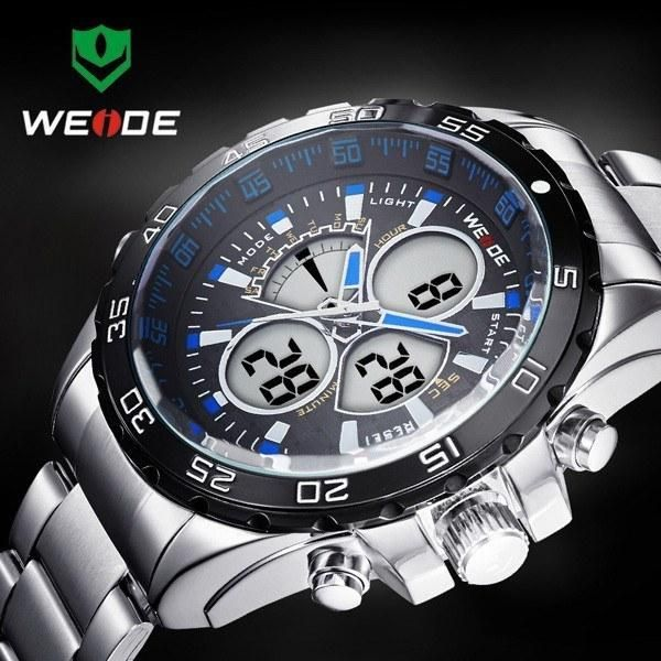 Weide Men's Luxury Quartz Sport Watch Analog Digital Analog Army Military Wrist Watches http://www.thesterlingsilver.com/product/bulova-classic-sports-mens-quartz-watch-with-black-dial-analogue-display-and-black-silicone-strap-98b261/