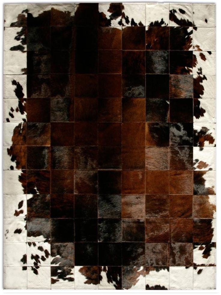 all natural patch cowhide rug park corbu by pure rugs