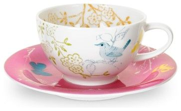 Dawn Chorus Teacup & Saucer,  Portmeirion:   So perfect for a quiet cup of tea mid-afternoon.