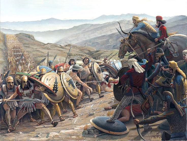 a battle of marathon between persia The battle was between a persian expeditionary force and thecity-state of athens the medes (persian allies) were part of thepersian force, so median garb refers to.