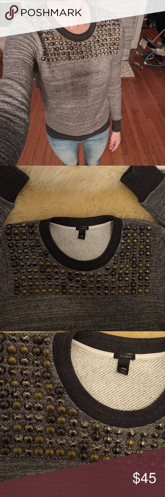 J.Crew studded sweater J.Crew studded sweater NWOT. Awesome rare find! Pet and smoke free home. Bundle to save 20%! J. Crew Sweaters Crew & Scoop Necks