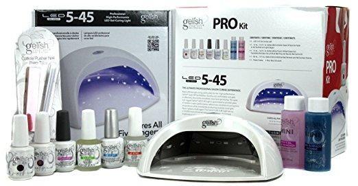 Gelish Harmony Salon Grade Professional Gel LED Soak Off Nail Polish Package Kit