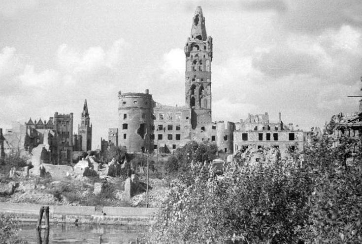 1950 - koningsberg castle ruin