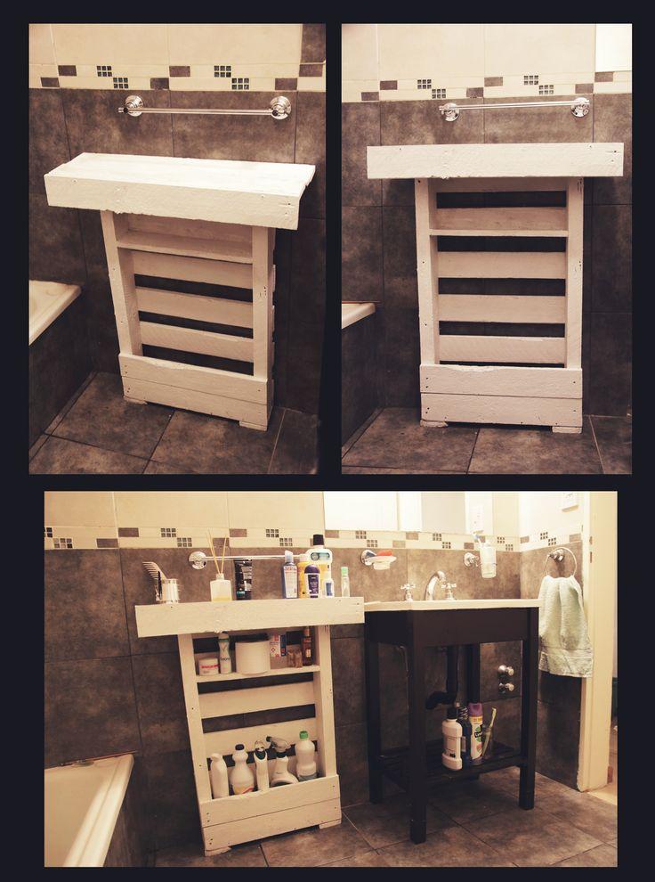 Mesa auxiliar para ba o hecha con palets esto hago pinterest mesas - Mesas con palets ...