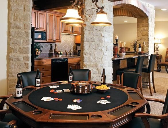 This makes me want to refinish our old poker table to create this. Love it!