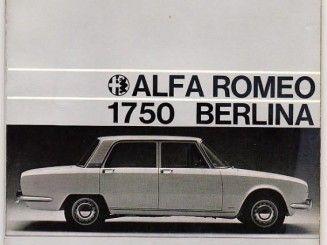 Alfa Romeo 1750 Berlina - Libretto di Uso e Manute