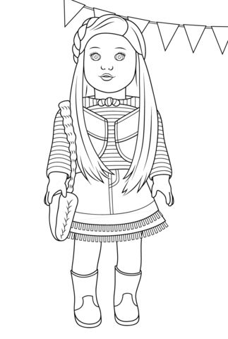 American Girl Mckenna coloring page from American Girl category. Select from 20946 printable crafts of cartoons, nature, animals, Bible and many more.