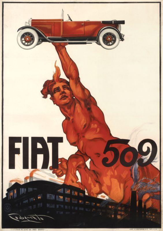 Fiat 509 By Plinio Codognato Shop Original Vintage Posters Online Www Internationalposter Com Vintage Posters Fiat Vintage Ads