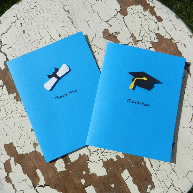 Handmade Graduation Thank You Cards - 10 Pack - Blue. $14.00, via Etsy.