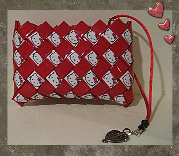 Hello Kitty Candy Wrapper Style Purse
