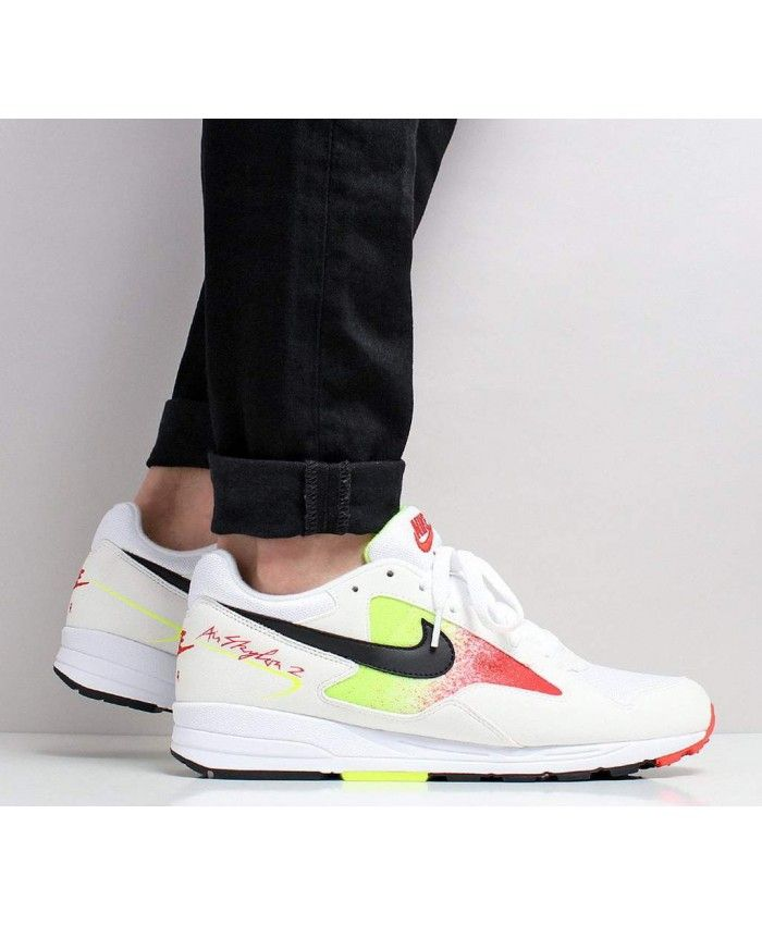 4e4daf60934 Nike Air Skylon Ii White Black Volt Habanero Red