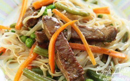 Рецепт – Мясо с овощами в воке