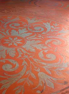 Stenciling Concrete- Modello Stencils Provide Numerous Options for Decorating Concrete Floors - article from The Concrete Network