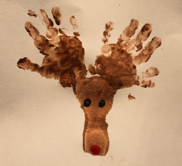 Fun Christmas Hand Print Art!