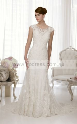 A-line Jewel Natural Sleeveless Floor-length Wedding Dresses wes0208--Hodress