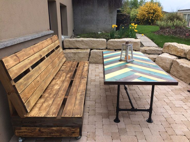 #PalletBench, #PalletTable, #PalletTerrace, #RecyclingWoodPallets