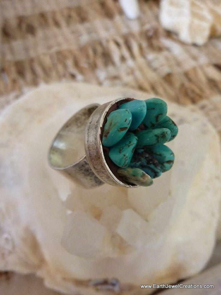 $59 - Cluster Rings - Inspirational handmade gemstone jewellery Earth Jewel Creations Australia