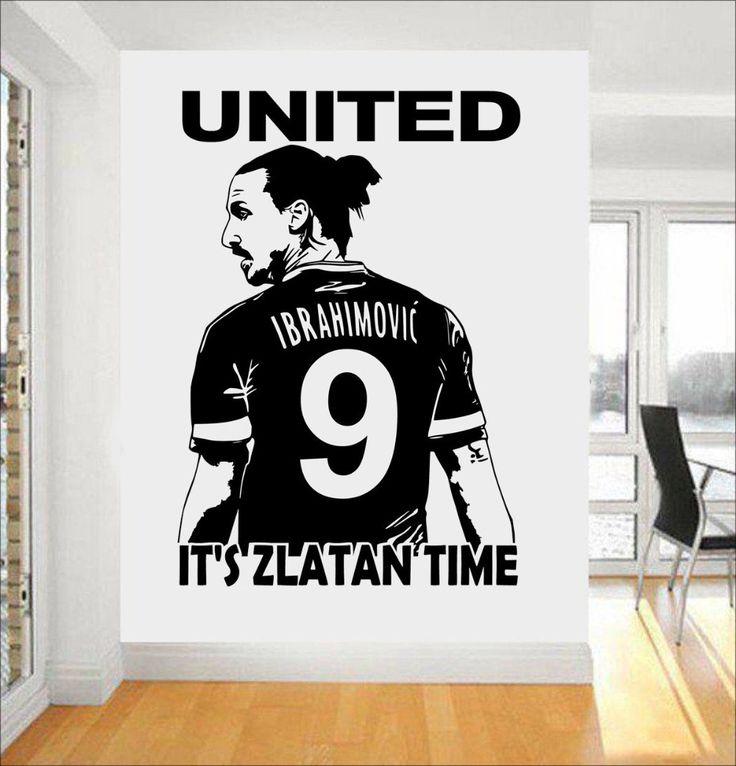 Zlatan Ibrahimovic Football Star Wall Art 3d Poster Soccer Wall Stickers For Kids Room Boy Bedroom Wallpaper Mural A210
