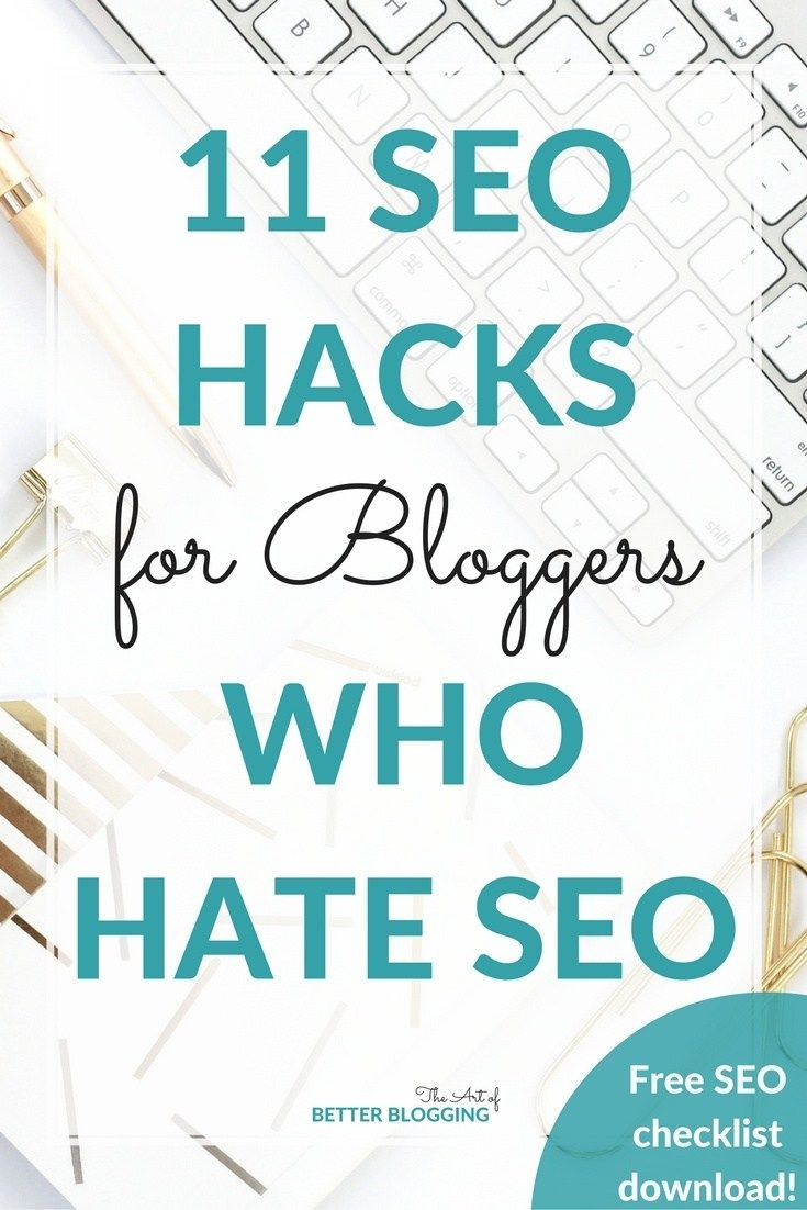SEO hacks for bloggers are all about simple, effective SEO strategies that compound over time. Download your free SEO Hacks for Bloggers checklist!